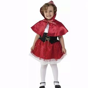 🆕 LIL' RED RIDING HOOD Child Girl Costume Dress
